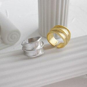 Image 2 - SSTEEL 925 anillos de plata esterlina de acero para mujer, anillo abierto, Anelli Argent, Argent Massif, joyería para mujer