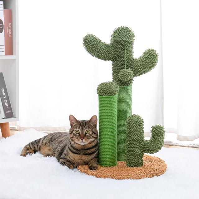 Cute Cactus Cat Tree Toy House Climbing Stratching Posts for Cat Kitten Funny Jumping Toy когтеточка rascador gato 4