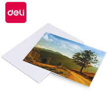 Deli 100 Sheets/Lot Color Glossy Inkjet Paper Photo Paper A4 Paper Contract Tender 128g 3545 Imaging Supplies Photographic