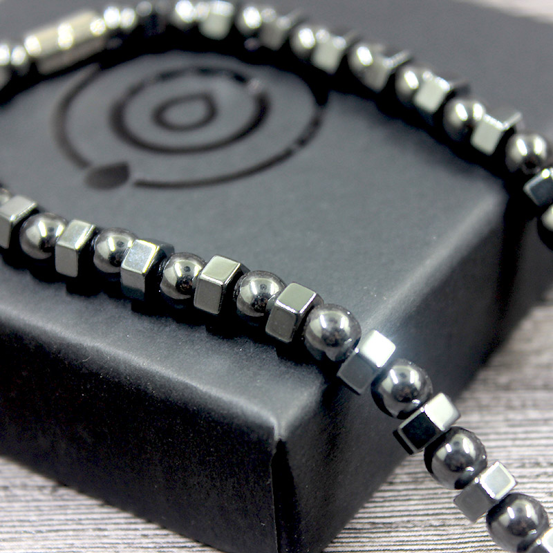 Magnetic Hematite Round Beads Necklace