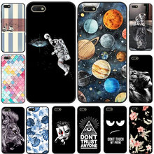 For Coque Huawei Y5 Lite 2018 Case Cover Black Silicone Planet Cat Tiger Phone Case For Huawei Y5 Lite 2018 DRA-LX5 Y5Lite 2018(China)
