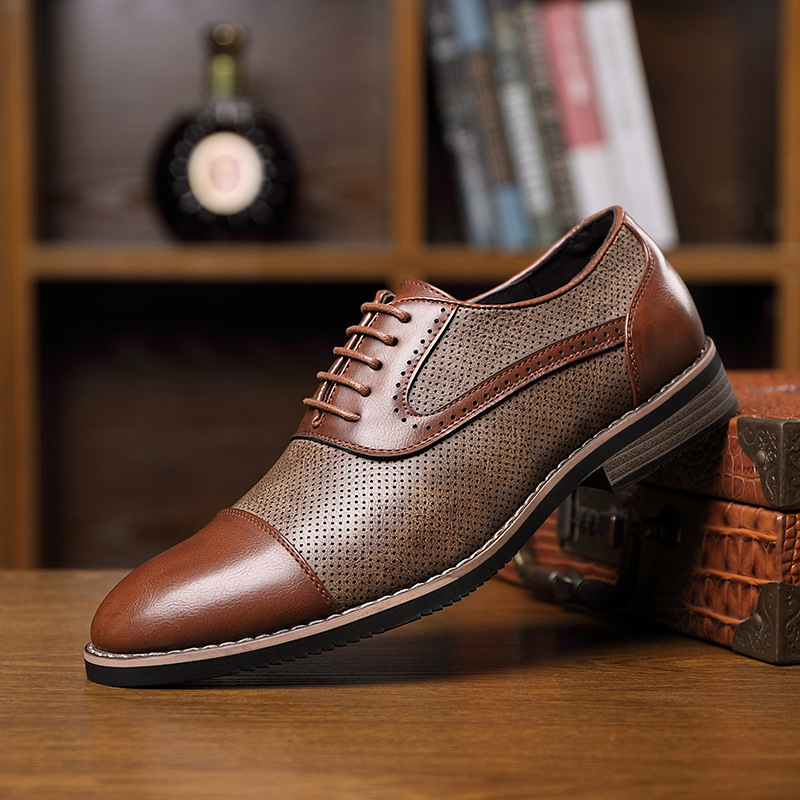 Men Casual Shoes For Men 2020 Winter Business Oxford Leather Shoes Men Dress Shoes Lace Up Driving Shoes Elegant Classic Brown