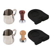 51mm steel base wooden handle tamper resistant coffee powder