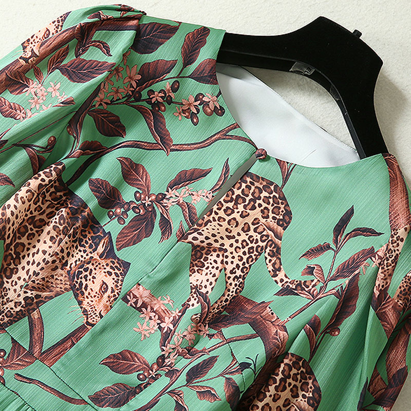 Kadın Giyim'ten Elbiseler'de Uzun elbise Bohe Plaj Yüksek Kaliteli Sonbahar Yeni Kadın Moda İş Parti Vintage Zarif Baskı Uzun Kollu şifon elbiseler'da  Grup 2