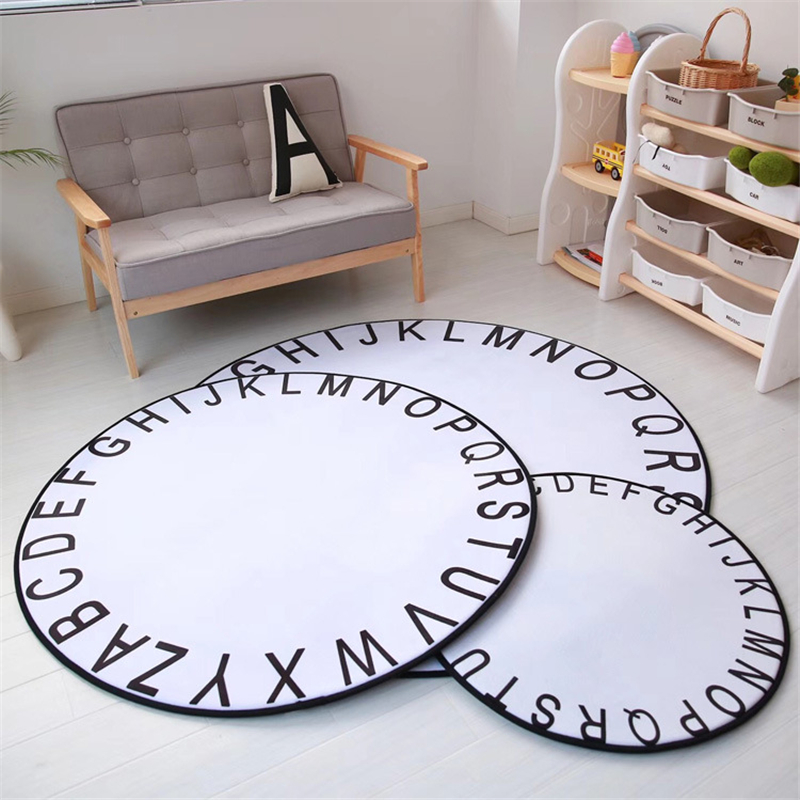 White Black Mickey Rug Children Baby Boy Girl Crawling Game Mat Carpet Indoor Cartoon Soft Four Season Children Mat Blanket Gift