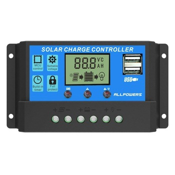 ALLPOWERS Solar Panel Inverter Solar Charge Controller 12V 24V 20A LCD Display Dual USB Solar Cells Panel Charge Regulator etc. 1