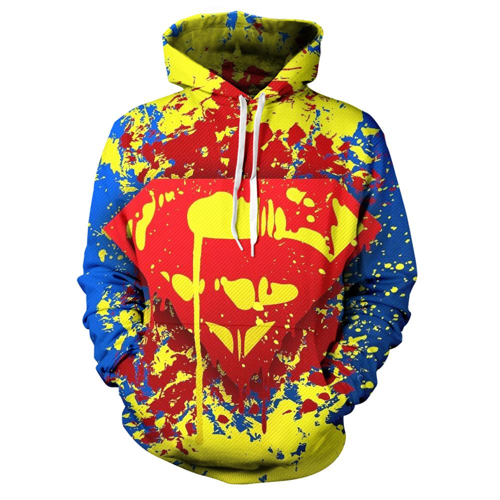 Fall Hot Men's Women's Hoodie Fashionable Men's Spider-Man Superman Batman 3d Hoodie Street Wear Casual Role Playing Sweatshirt