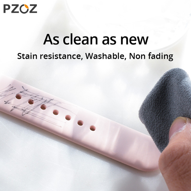 PZOZ Silicone Strap for apple watch 1 2 3 42mm 40MM  Replace strap for iwatch Series 4 5 42MM watchband loop 38mm Soft strap