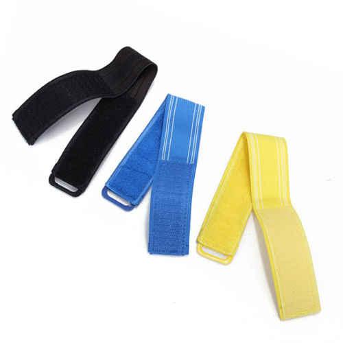 2x Bike Fahrrad Hallo Nämlich Reflektierende Bänder Hose Pant Clips Strap Bind Knöchel Sicherheit-Blau