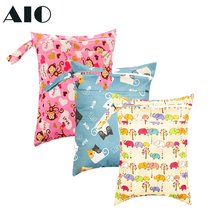 Prints Wet Dry Diaper Bag Reusable Waterproof Double Pocket Cloth Handle 1pcs Wet bag 30*40CM 2021 Fashion Dropshipping