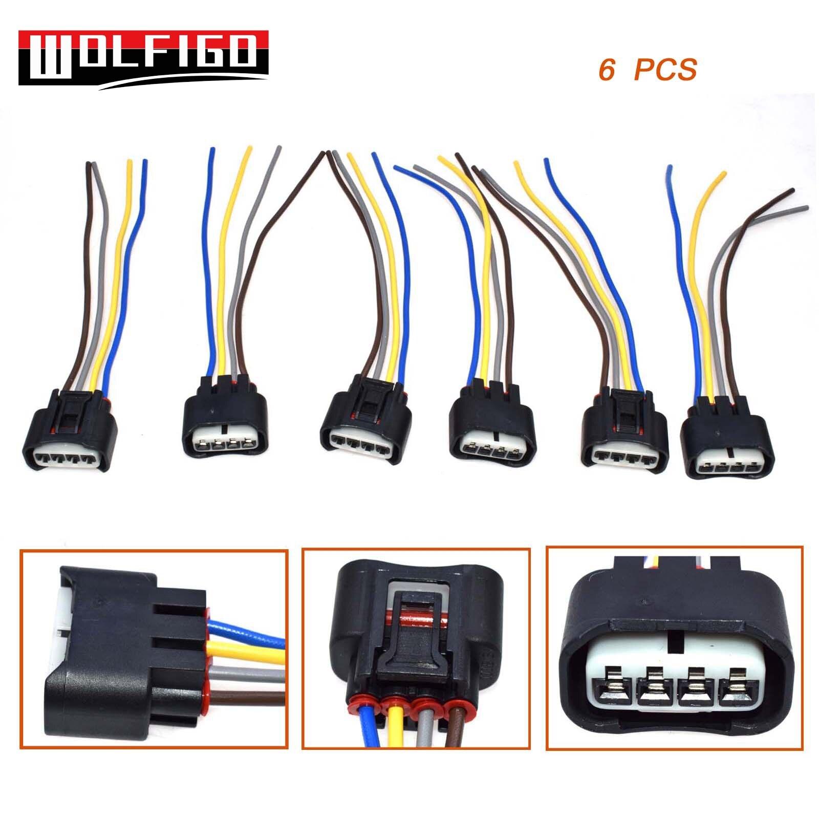 4pcs Ignition Coil Female Connector Plug Harness For 2005-2010 Scion tC 2.4L