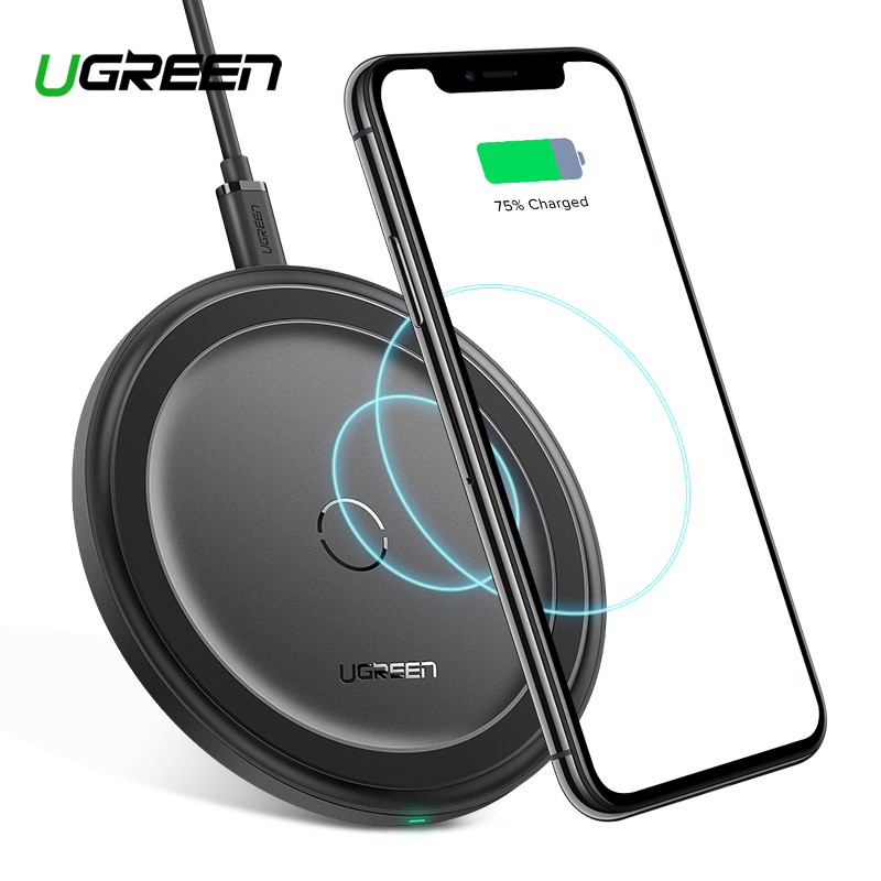 Image 1 - Ugreen Wireless Charger for iPhone 11 X Xs Xr 8 10W Qi Fast Wireless Charging Pad for Samsung S10 Note 9 AirPods Xiaomi Charger-in Wireless Chargers from Cellphones & Telecommunications