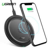 Ugreen Wireless Charger for iPhone 11 X Xs Xr 8 10W Qi Fast Wireless Charging Pad for Samsung S10 Note 9 AirPods Xiaomi Charger