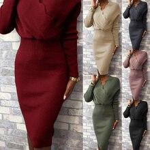 Falda de encaje de un paso para mujer, Top de Color liso, falda de cintura alta, falda a media pierna, cuello en V, conjunto de una pieza, 2020