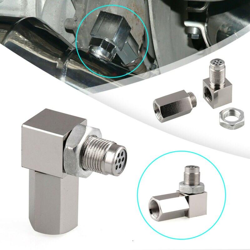 90° O2 Oxygen Sensor Spacer Engine Light CEL Check Bung Mini Catalytic Converter