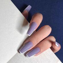 24 шт/компл полное покрытие накладные ногти нажмите на матовый