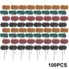100 шт нейлоновая абразивная щетка Шлифовальная головка Полировочный