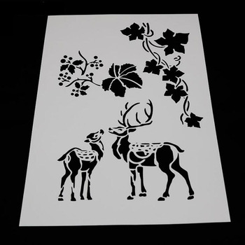 1pc Stencils Bullet Journal Grape Deer Painting Template DIY Embossing Stencils Accessories For Scrapbooking Stencil Reusable reusable feather stencils for card making stamping gift box polymer clay scrapbooking chalk acrylic painting 5 5 5 5 1pc