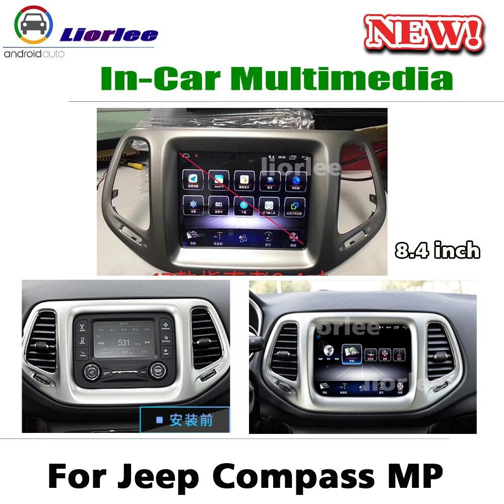 Lecteur multimédia GPS de voiture pour Jeep boussole MP 2016 ~ 2020 Android Radio stéréo accessoires système de Navigation d'écran de style Original