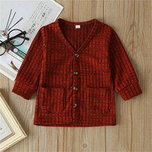 Kid Boy Girls Coats Cardigan Long Sleeve Button Casual Top Kids Striped School Uniform Baby