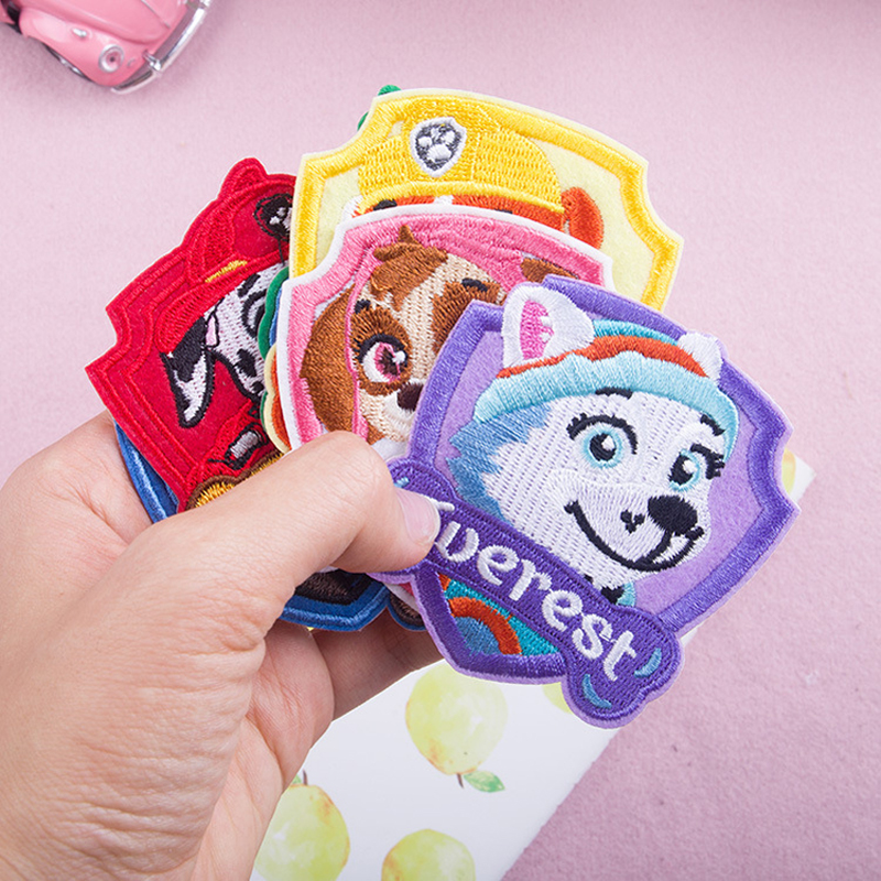 PAW PATROL Popular Embroidery Cloth Embroidered Standard Cloth Embroidery Trademark Badge Armband Badge Cloth Sticker