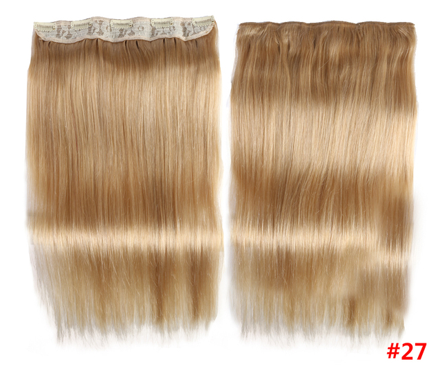 Clip In Een Stuk Human Hair Extensions Straight Braziliaanse Licht Donkerbruin #1 # 1B #4 #8 #613 Blonde #27 #32 Remy 80G 100G 120G