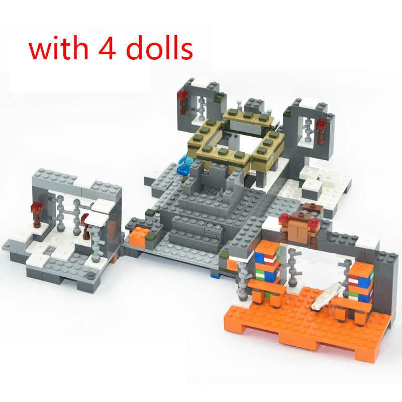 704 stücke Bausteine meine welt Sets Designer Die Illager Raid Basis Abenteuer Der Schädel Arena Ziegel Spielzeug für Kinder