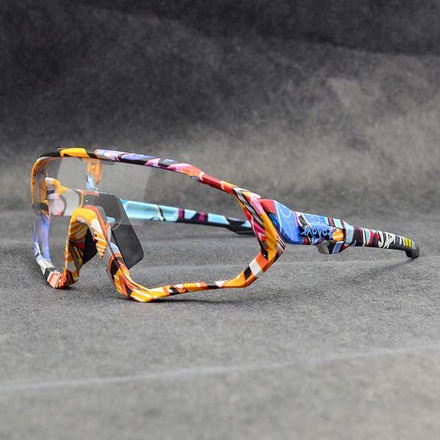 KAPVOE Photochromic Cycling Sunglasses TR90 Road Mountain Cycling Sport Glasses
