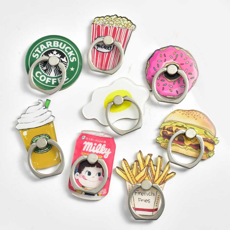 Donuts Milk Universal Phone Ring Holder Mobile Phone Holder Stand Finger Ring Holder Suporte Celular For IPhone Samsung Table