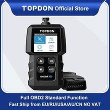 TOPDON AL300 OBD2เครื่องสแกนเนอร์ OBDII เครื่องมือวินิจฉัยรถยนต์ OBD2เครื่องสแกนเนอร์เครื่องวิเคราะห์เครื่องยนต์ Auto เครื่องมือสแกนสแกน PK ELM327