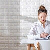 Tapete Selbst-adhesive 3D Drei-dimensional Wand Aufkleber Schlafzimmer Warme Dekoration Hintergrund Wand Tapete Aufkleber