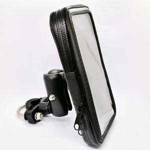 Image 1 - Motorcycle Cell Phone Mount Holder with Waterproof Zipper Case Handlebar Rail Mount Holder Case for iPhone 7/X, Galaxy S9 Plus