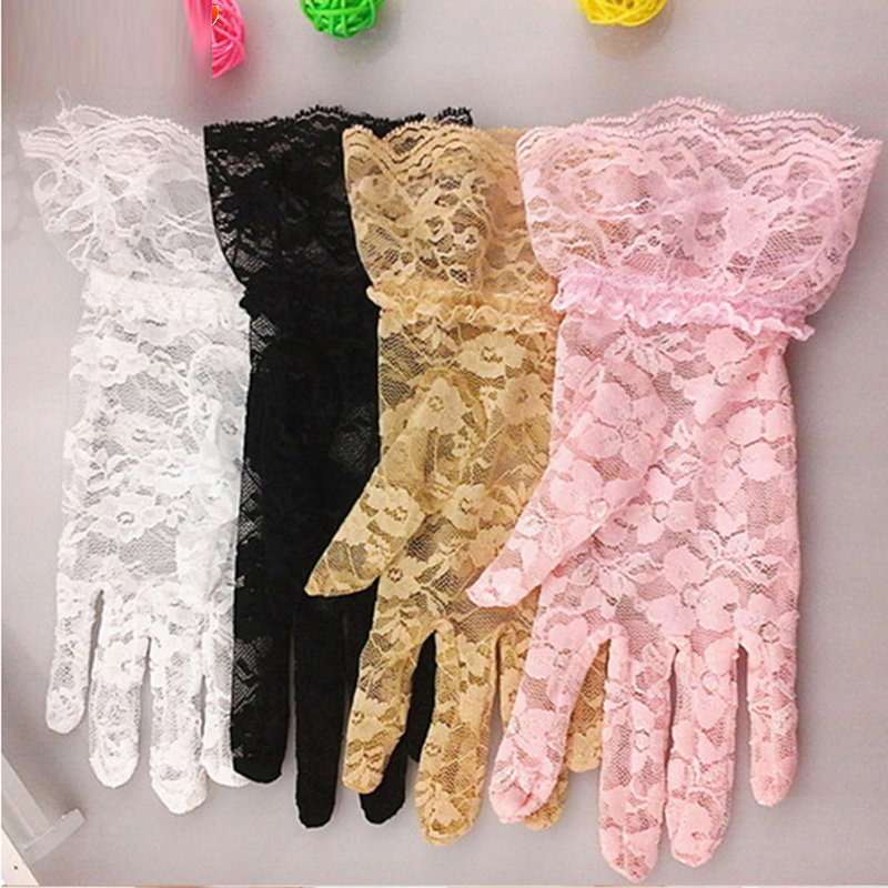 Hot Sale High Quality Lace Hollow-Out Gloves Delicate Lace Jacquard Pattern Gloves Sun Protection Accessories Ladies Mittens