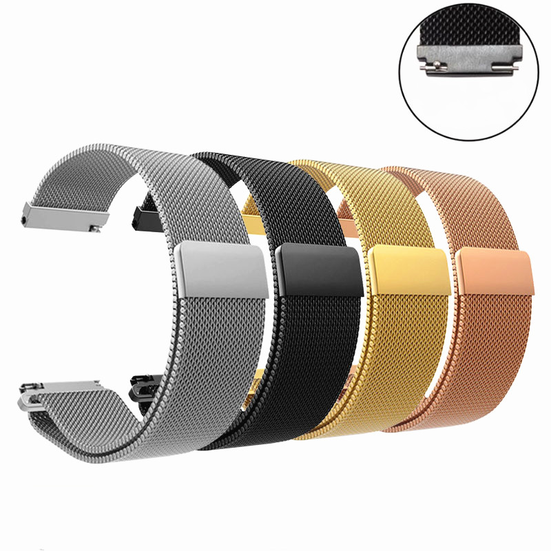 1PC 20mm Band  For Samsung Gear Sport S2  Frontier Classic Band Huami Amazfit Bip Strap Huawei Watch 2 Galaxy Watch Active 2020