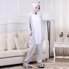 Mouse Pajama Women Animal Kigurumi Gray Onesie Funny Sleepwear Halloween Party Jumpsuit Good Quality Flannel Soft Warm Overalls