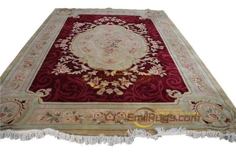 Savonnerie Plush Rug Livingroom Modern Art Handwoven French Chic Round For Home Decoration New Natural Savonnerie
