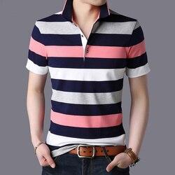 Летняя мужская деловая Повседневная футболка с коротким рукавом 5089