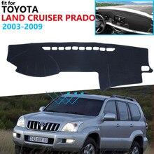 Capa protetora para painel de controle, para toyota land cruiser prado j120 120 2003 ~ 2009, acessórios para veículo, placa de sol, tapete de proteção 2008