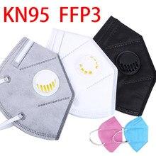 Blue gray black protective face mouth masks ffp3 valve respirator filter facial mask ffp 3 washable reusable ffpp3 fpp3 ffp3mask