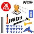 38pcs Paintless Dent Repair Car Dent Puller kit Golden Dent Lifter with Hot Melt Glue Gun Glue Sticks for Car Body Dent Repair