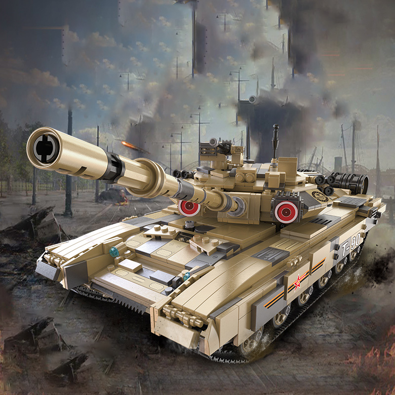 Building-Blocks Boys for Military War-Series German T90/Main-battle/Tank-model/Technic