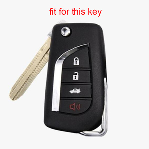 Silica Gel Key Cover Case for Toyota Clicker C-HR 2019 Camry 2018 Prius 2008-2015 4 Buttons Key Holder Fob C-HR Silicone Key Set