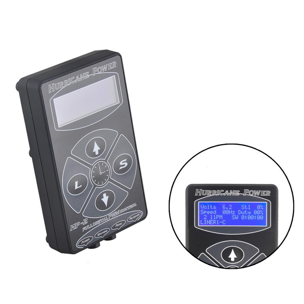 Hp-2 tatuagem fonte de alimentação digital power display lcd preto/prata/branco para máquina kits