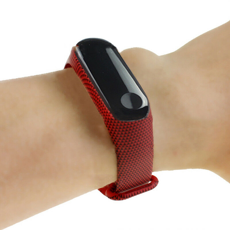 Printing Silicone Soft Bracelet Strap Wristband Wrist Band Replacement Straps Accessories For Xiaomi Mi Band 3