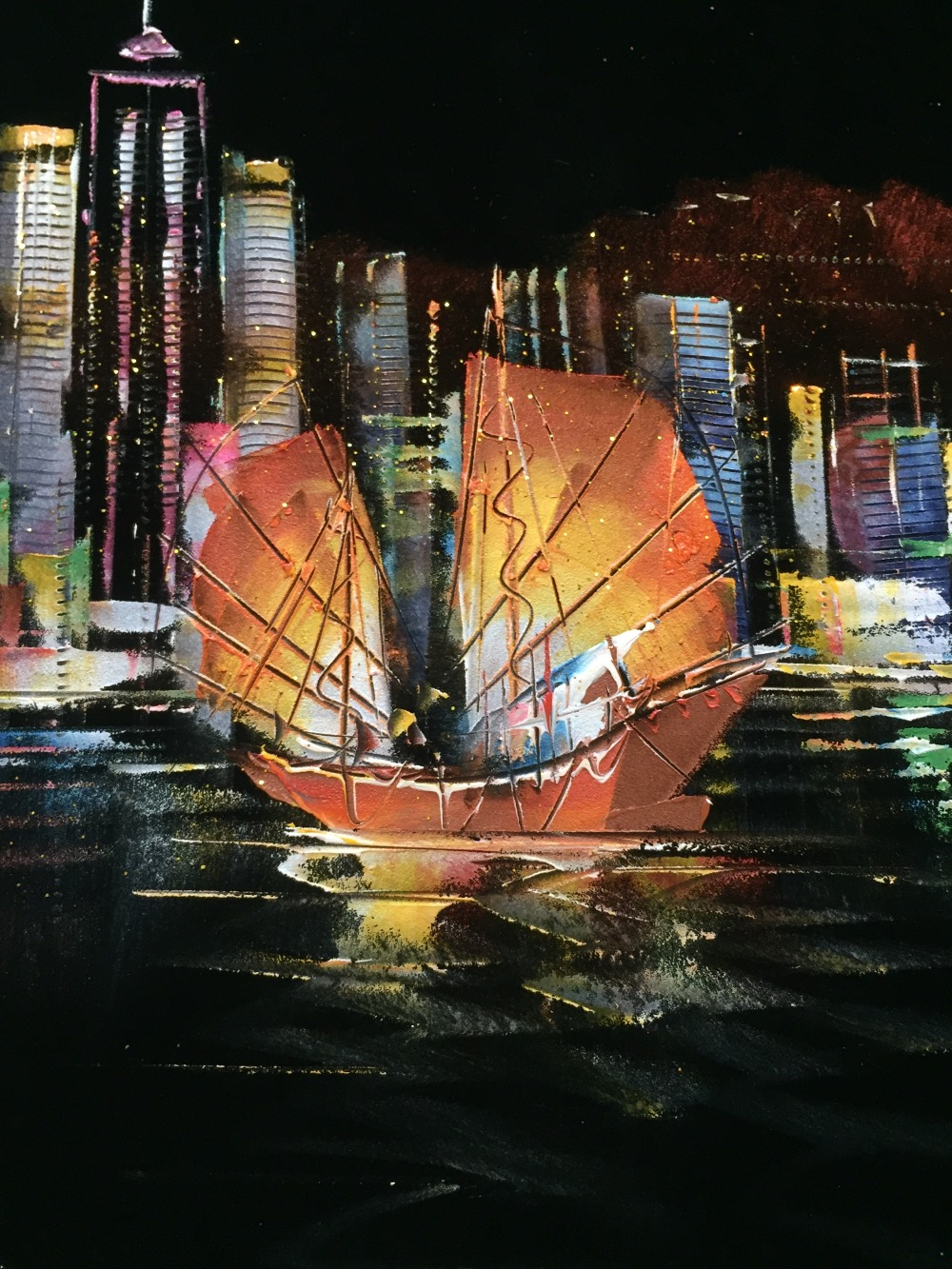 na flanela abstrato hong kong victoria harbour