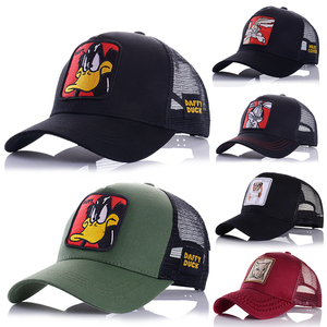 Hot Sell Baseball Cap Animal Embroidery Anime Cute Embroidery Summer Mesh Men's Ms. Outdoor Sunshade Dad Truck Driver hats(China)