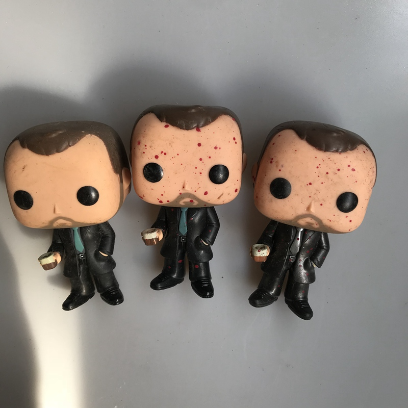 Original Funko Pop Secondhand Supernatural - Crowley Bloody Vinyl Action Figure Collectible Model Loose Toy