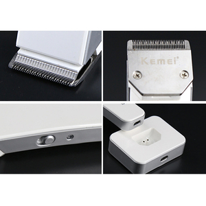 Image 4 - Kemei cortadora de pelo eléctrica portátil para hombre y mujer máquina de corte de pelo, maquinilla de afeitar, cortadora de pelo afilada
