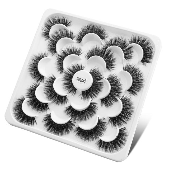 5/6/9/10 Pairs 3D Mink Lashes Natural Long False Eyelashes Dramatic Volume Wispy Fake Eyelashes Extension Makeup Wholesale 5