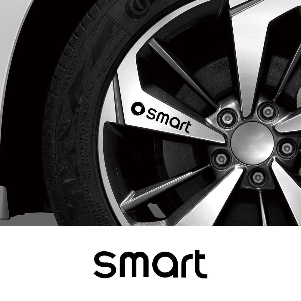 4PCS Set Car Wheel Rim Stickers For Benz Smart Fortwo EQ Cabrio Forfour Preis W453 W451 Auto Accessories Vinyl Film Decals